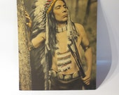 American Indian Chief Photo Bas Relief Photograph