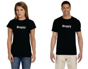 hashtag happy #happy womens jr fit shirt