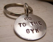 Go To The Gym Keychain. You Can Do It. Just Keep Going. Motivation. Don't be Lazy
