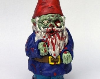 "Zombie Gnome-""Walking Dead"""