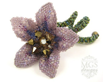 Sharon's Wildflower - Beading Pattern/Tutorial Downloadable PDF
