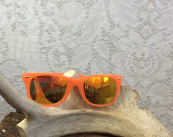 Vintage Orange Wayfarer Sunglasses