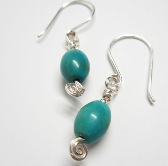 turquoise earrings blue green earrings blue green turquoise