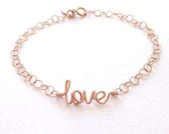 Love Bracelet. Rose Gold Love Bracelet.