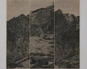 Mountains 4, 16 x 20 inch silkscreen print