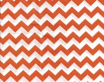 Orange White Chevron ZigZag Stripe Bedroom Window Valance Decor