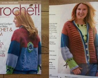 crochet patterns misses jacket backpack afghans dress jacket and top monkey messenger bag