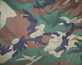 """High Quality Camouflage Rip Stop Fabric 60"""" Wide Sold by the Yard"""