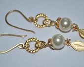 Gold Plated Cream Earring