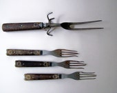 Civil War Era Utensils ~ Primitive Forks ~ Carving Fork ~ 1800's Utensils