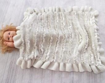 """38""""x28"""" Knitting Baby Blanket ,Baby Stroller Blanket, Knitting Pattern,Handmade Knitting"""