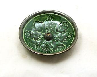 Incense Burner Oak Leaf Ceramic Handmade Ceramic Pottery