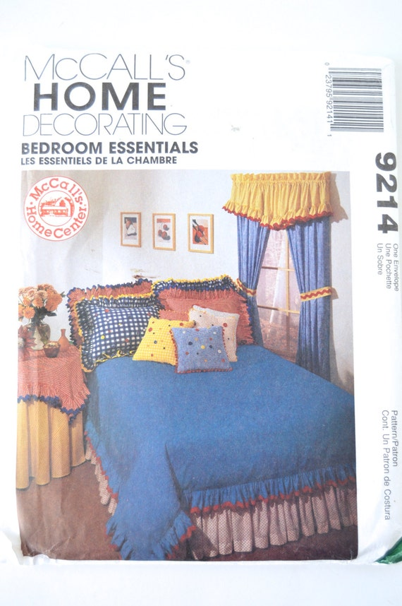 home decorating bedroom essentials mccall s 9214 by
