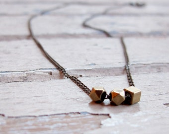 Everyday - Hand crafted Brass Necklace - Artisan Tangleweeds Jewelry