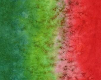 Hand Dyed Fabric - Geranium -  Gradient