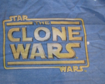 Vintage Star Wars The Clone Wars Kids Fitted Twin Sheet and 2 Pillowcases