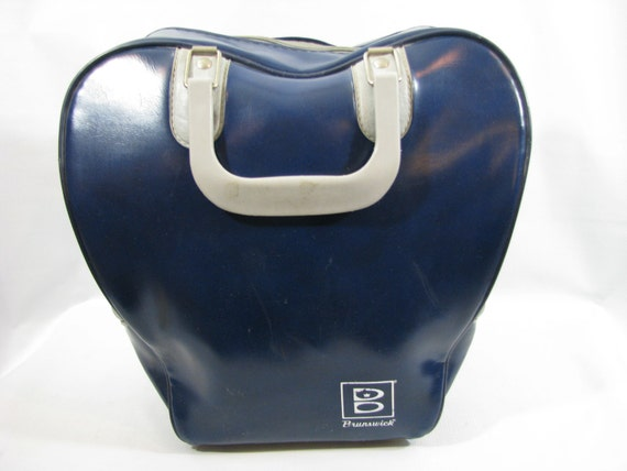 Vintage Blue Vinyl Brunswick Bowling Bag By Heckamom On Etsy