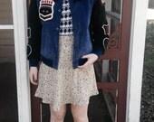 Vintage 1955 Leather Bomber Varsity Jacket