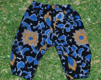 Hippie Kids Harem pants -size 1- Blue Purple Sunflower -Boys or Girls-read measurements