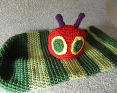 The Hungry Caterpillar Baby Cocoon Blanket and Hat set Photo Prop Halloween Costume