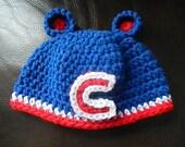 Chicago Cubs Cubbie hat or Chicago Bears Cub cap photo prop