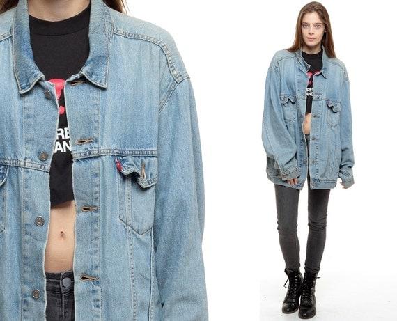 Levis Jean Jacket 80s Denim Jacket Faded Distressed Levi Coat