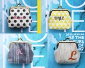Personalized | Monogram | Personalize with your name or initials little coin Purse