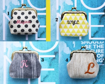 Personalized   Monogram   Personalize with your name or initials little coin Purse