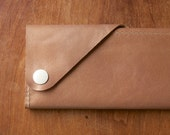 "Leather Wrap Wallet ""The Constance"" in Champagne"