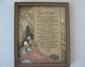 Vintage Picture Poem Friend Victorian Romantic Style