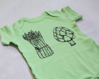 Veggie One Piece for Babies - in Light Green