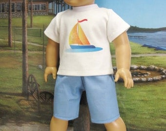 """Sailboat Outfit for 18"""" Boy Doll"""