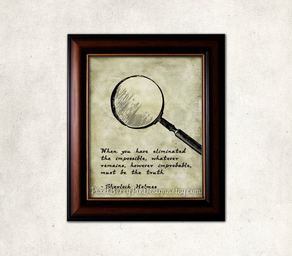 Sherlock Holmes printable art