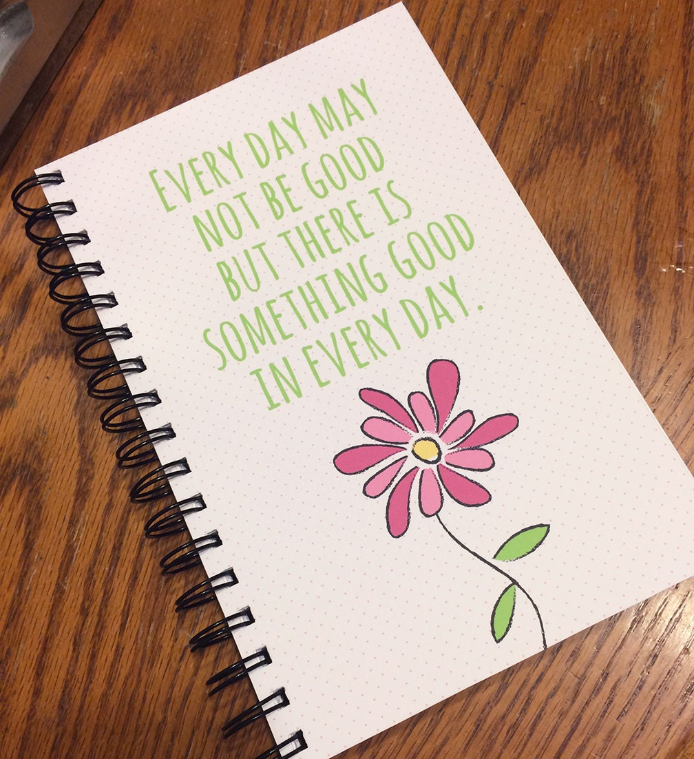 inspirational quote journal spiral bound notebook journal