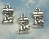 BuLK 50 Mixer Charms Baking Cooking Antiqued Silver Tone Pendant Wedding Showers (P1778 -50)