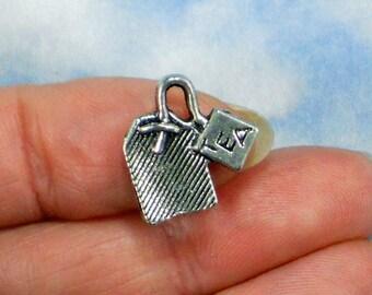 8 Cute Teabag Charms Antiqued Tibetan Silver Tone 3D Pendant (P1618)