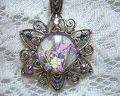 Beautiful Iris Pendant Free Shipping in USA