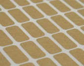 Small Rectangle Brown Kraft Labels - 1/2 x 1 Inch Sheet Labels for Laserjet or Inkjet Printing - set of 360