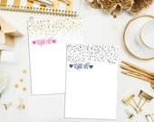 SALE. Gold Glitter Dots Thank You Cards with Bright Pink Envelopes. Flat A1 Pink & Gold Thank You Cards. Set of 10 Thank You Cards. Glitter