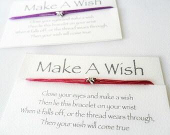 Wish Bracelet Friendship Bracelet Anklet / Bridesmaid gift Friendship Bracelet / Classmate, Crew gift / trinket favors / goodies under 10