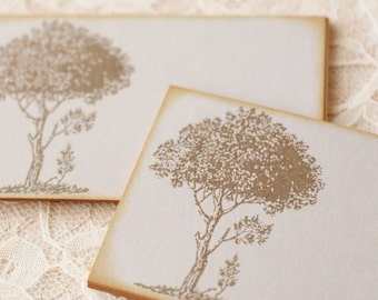 Wedding Place Cards Food Buffet Label Tags Wish Cards Tree Set of 10
