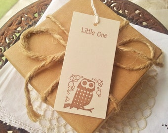Owl Baby Shower Wishing Tree Tags Ivory Mini Gender Reveal Place Name Cards Set of 60