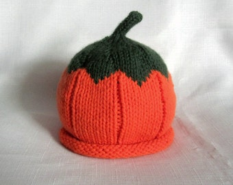READY TO SHIP Boston Beanies Pumpkin Baby Hat great photo prop
