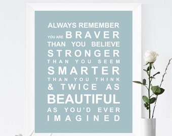 Always Remember Bus Roll Wall Art Print