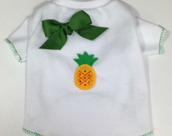 Tropical Summer Pineapple Dog Shirt Clothes Size XXXS through Medium by Doogie Couture