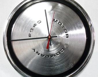 Wall Clock - 1970 - 1973 Ford Mustang - Torino Maverick Hubcap Clock - 1971 1972 Hub Cap - Dorm Decor