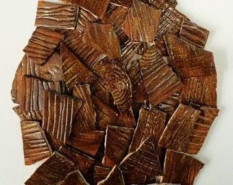 Wood Grain/Bark Ceramic Mosaic Tiles - 1 square foot