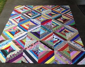 """Scrappy 12"""" Blocks Quilt Top- #3"""
