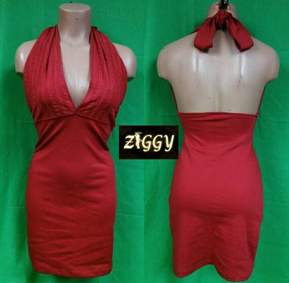 Custom Halter and Lace Mini Dress