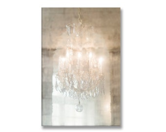 Paris Photo on Canvas, Sparkle, Versailles Chandelier Fine Art Gallery Wrapped Canvas, Large Wall Art, French Home Decor